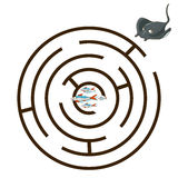 Game labyrinth find a way stingray vector Stock Photo