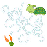 Game labyrinth find a way tortoise vector Stock Photo