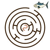 Game labyrinth find a way tunny vector Royalty Free Stock Image