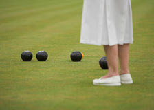 A Game of Ladies Bowls stock photo