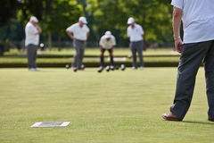 Game of Lawn Bowls royalty free stock photography