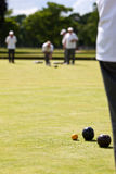 Game of Lawn Bowls royalty free stock photos