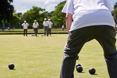 Game of Lawn Bowls stock image