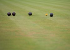 Game of Lawn Bowls Royalty Free Stock Images