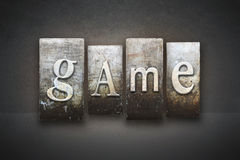 Game Letterpress Royalty Free Stock Images