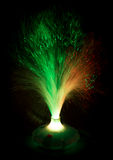 Game of light. This is a child's toy, a nightlight. It is made of fishing line and a few LEDS Royalty Free Stock Photos