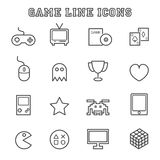 Game line icons Stock Photos