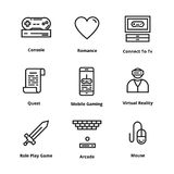 Game Line icons. Icons for user interface and web Royalty Free Stock Photos