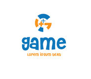 Game Logo Design Concept Stock Photography