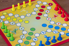 Game of Ludo. Board game Royalty Free Stock Images