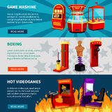 Game Machine Banners Set Royalty Free Stock Photo