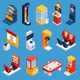 Game Machine Isometric Icons Royalty Free Stock Photo