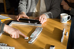 Game in mahjong stock photo