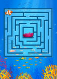 Game. Maze game with underwater theme Royalty Free Stock Image