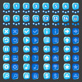 Game menu icons ice buttons Stock Photos
