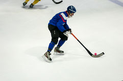 Game in Mini hockey with the ball. Stock Photo