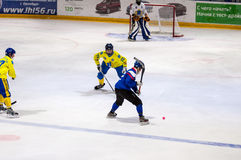 Game in Mini hockey with the ball. Royalty Free Stock Photography