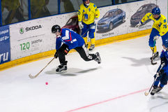 Game in Mini hockey with the ball. Stock Photography