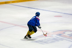 Game in Mini hockey with the ball. Royalty Free Stock Image