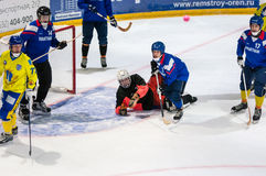 Game in Mini hockey with the ball. Stock Image
