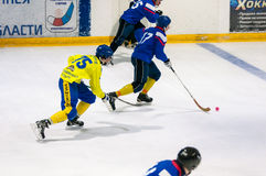 Game in Mini hockey with the ball. Royalty Free Stock Photos