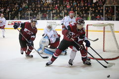 The game moment of a hockey game Royalty Free Stock Photography