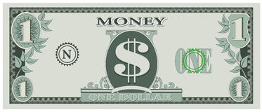 Game money - one dollar bill Stock Photo