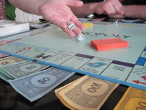 Game of Monopoly Stock Image
