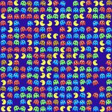 Game monsters seamless generated pattern stock illustration