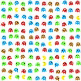 Game monsters seamless generated pattern Royalty Free Stock Photography