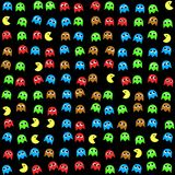 Game monsters seamless generated pattern vector illustration