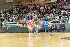 Game between Morabanc Andorra BC and Crvena Zvezda MTS Belgrado. stock photography