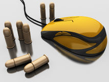 Game mouse and bullet Stock Photo