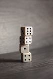 Game object dice isolated on a white background Royalty Free Stock Image