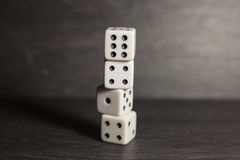 Game object dice isolated on a white background Royalty Free Stock Photography