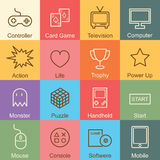 Game outline design Royalty Free Stock Images
