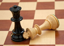 Game Over. Final end to a chess game royalty free stock photo