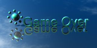 Game Over. 3d Presentation Business, Logo and Symbol Royalty Free Stock Photos