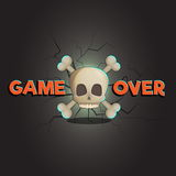 Game over abstract vector game and web background Royalty Free Stock Photos
