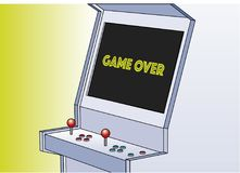 Game over arcade game machine Stock Photo