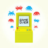 Game over arcade machine. Stock Photos