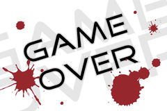 Game over background Royalty Free Stock Photos