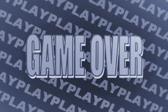 Game over background Stock Image