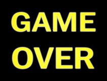 Game over big shadowy Royalty Free Stock Photo