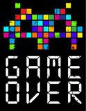 Game over cartoon slogan Stock Images