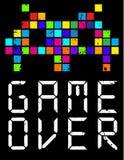 Game over cartoon slogan. Fashion style royalty free illustration