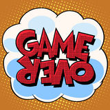 Game over comic bubble retro text Royalty Free Stock Images