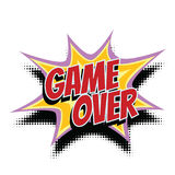 Game over comic word Stock Photography
