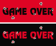 Game over concept background Royalty Free Stock Images
