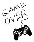 Game over. Game controller isolated on a white background Stock Image